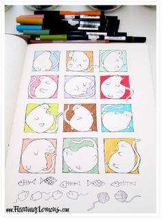 Cat blobs by Mariana :: Floating Lemons