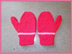 marianna's lazy daisy days: Easy toddler and child mittens - boy or girl Baby Mittens Knitting Pattern, Baby Boy Knitting Patterns, Knit Mittens, Fingerless Gloves Knitted, Baby Hats Knitting, Crochet Patterns, Stitch Patterns, Knitting For Charity, Knitting For Kids