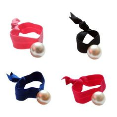 Pearl Ouchless Hair Ties - Set of 3. #hairtie #style  9thelm.com