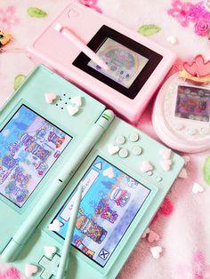Image in cute kawaii 🌸 collection by Zeref Dragneel Kawaii Room, Gaming Desk, Gamer Room, Retro Aesthetic, Aesthetic Pastel, Kawaii Cute, Pastel Colors, Harajuku, Childhood