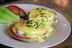 Homemade Eggs Benedict Including blender Hollandaise Sauce and egg poaching tips