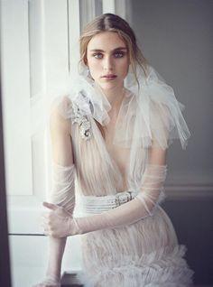 Hedvig Palm   Haute Couture Fashion Editorial   Harper's Bazaar UK