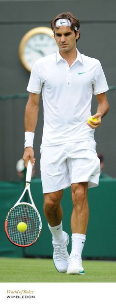 Roger Federer at Wimbledon. #Rolex #RolexOfficial