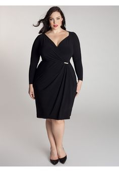 88a9040a0703b Plus Size Midi Dress Fashion Women Black Sexy V Neck Tie Waist Long Sleeves Plus  Size Sexy Dress Wholesale 2015