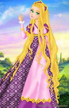Rapunzel deluxe gown by LadyAmber on DeviantArt Disney Rapunzel, Disney Princess Art, Tangled Rapunzel, Princess Rapunzel, Disney Princess Dresses, Disney Dresses, Disney Fan Art, Disney Girls, Disney Style