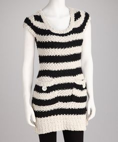 Take a look at this Young Threads Stone Stripe Knit Tunic on zulily today!