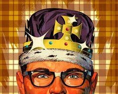 Tavis Coburn - Revenge of the Nerds - llustration for EW about successful nerds in film.