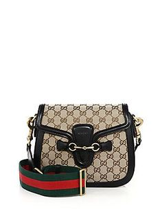b5be4a5d02e Gucci - Lady Web Medium GG Canvas Shoulder Bag
