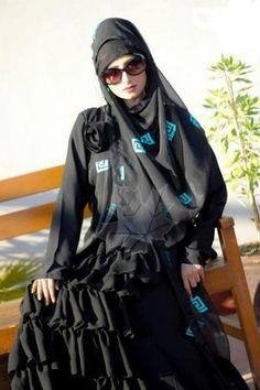 Elegant and stylish Abaya for Girls is now a fashion among girls Abaya Designs 2014 Abaya Designs Latest Dubai Bahrain. Abaya Designs Latest, Islamic Clothing, Hijab Dress, Dress Collection, Casual Wear, Designer Dresses, Rain Jacket, Windbreaker, Female
