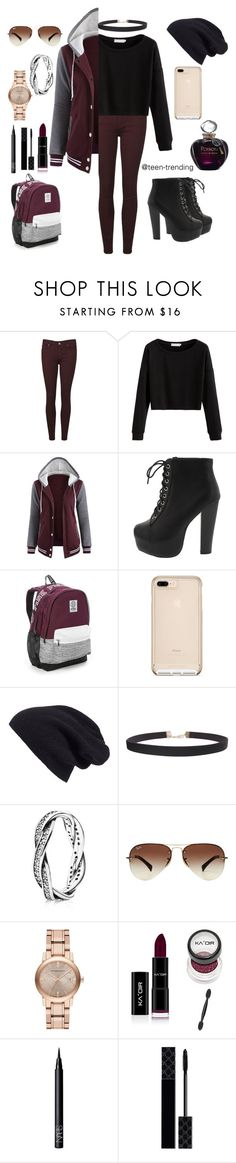 """""""November blues"""" by teen-trending ❤ liked on Polyvore featuring Paige Denim, Victoria's Secret, Halogen, Humble Chic, Pandora, Ray-Ban, Burberry, NARS Cosmetics, Gucci and Christian Dior"""