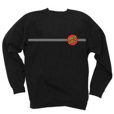 Santa Cruz Skateboards: Sweatshirts: Classic Dot Crew Neck L/S