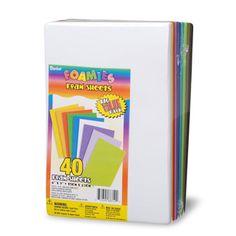 Foamies® Foam Sheets Big Value Pack - 40 6 x 9 inch Sheets