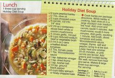 Holiday Diet Soup (Woman's World mag 12/23/13)