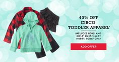 New Cartwheel Coupon- 40% off Circo Toddler Apparel Today Only