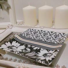 * * Daisy×Damask * * とっても素敵なデザイン 体験レッスンにて♪ * * * #damask#stripe#daisy#モノトーン#simple#cute#love#happy#ポーセラーツ#Porcelarts#handmade#original#食器#器#tableware#転写紙#PorcelartssalonNINA#NINA#栃木#Tochigi#宇都宮#Utsunomiya