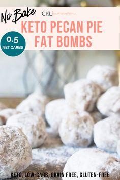 These Keto Pecan Pie Fat Bombs are loaded with healthy fats and are completely satisfying. They are so good, they may be mistaken for a cookie. Honey Recipes, Coconut Recipes, Low Carb Recipes, Healthy Recipes, Keto Chocolate Fat Bomb, Low Carb Chocolate, Chocolate Ganache, Food Nutrition Facts, Low Carb Candy
