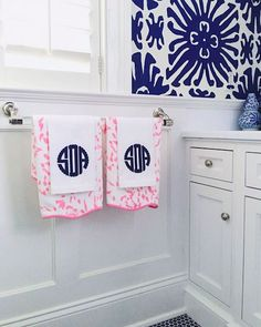 Love the monograms and mixed prints!