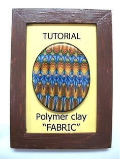 Polymer clay FABRIC technique