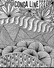 Study in line art project - pattern, colours
