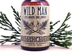 Beard Wash Shampoo Soap Natural Mens Beard Soap Wild Man 2oz on Etsy, $11.95