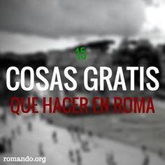 Cosas #gratis que hacer en #Roma