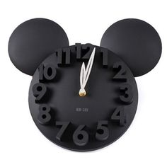 Amazon.com: LOCOMO Modern Design Mickey Mouse Big Digit 3D Wall Clock Home Decor Decoration: Home & Kitchen