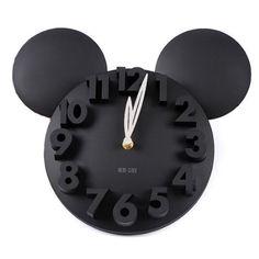 #Modern #Design #MickeyMouse #Big #Digit #3D #Wall #Clock #Home #Decor #Decoration #Home #Kitchen #Black