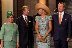 Maxima and Willem with Hereitary Duke of Luxembourg and Marie Theresa, Duchess