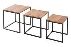 Zestaw pięknych w swojej prostocie stolików dekoracyjnych Agnes, które odnajdą się w każdym minimalistycznym wnętrzu dodając mu nutkę niezależności. Popołudniowe spotkania ze znajomymi i poranne czytanie prasy będzie przyjemniejsze dzięki stolikom Agnes. Stoliki Agnes mają ponadczasowy charakter dzięki wykonaniu go w modnym drewnie sheesham.