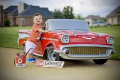 Family photo. Fun family photo idea. First birthday party. First birthday idea. Toy car shoot.