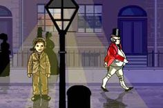 SURVIVE DICKENS' LONDON game  Dare you take a tour of Dickensian London? You could meet Mr Micawber, Mr Pickwick or Fagin. Or you might catch smallpox and end up in jail. If you do well, you'll get to meet Charles Dickens. A fun game for kids, in honor of Charles Dickens' 200th birthday.