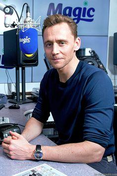 Tom Hiddleston at Magic Radio studios, London, 03/02/17 (x) Source: larygo.tumblr.com