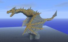 Skyrim Dragon Minecraft creation