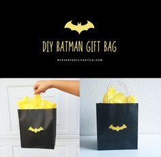 DIY Batman Gift Bag — MEL | Dallas Lifestyle, Design and Fashion Blogger