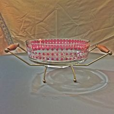 Hey, I found this really awesome Etsy listing at https://www.etsy.com/listing/225401560/mid-century-modern-atomic-pink-bowl-and