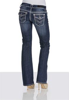 Vigoss® Thick Stitch Dark Wash Bootcut Jeans - maurices.com