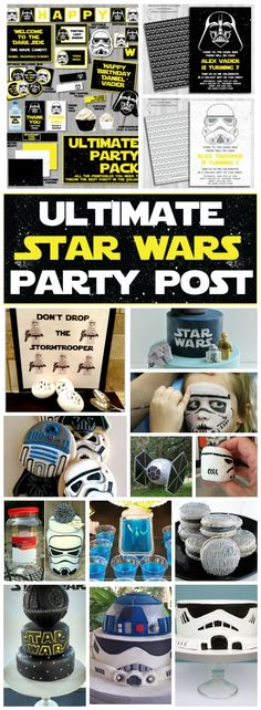 May the force be with you as you set to prepare the ultimate Star Wars party for your young Jedi, Leia, Darth Vader, Trooper or other creature, in a galaxy not so far away!
