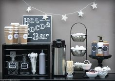 Winter Hot Cocoa Bar / Hot Chocolate Bar - All of the DIY instructions and tips for putting together your own Hot Cocoa Bar - www.MeandAnnabelLee.com