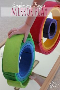 Reggio Mirror Play Ideas - Discovering Shapes and Symmetry - One Perfect Day