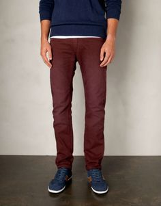 burgundy color pants for men