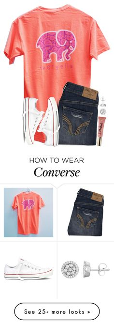 """It's Friday!! Yessss!!"" by twaayy on Polyvore featuring Hollister Co., Converse and Too Faced Cosmetics"