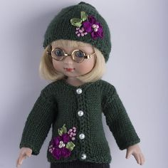 """Dark green color sweater for 10""""Ann Estelle,11""""Bitty Bethany or 14""""Betsy McCall. SOLD BIN 2/17/15 for $20.00. From Belarus"""