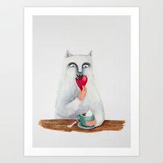 Breakfast Art Print by Elena Goatelli - $20.00