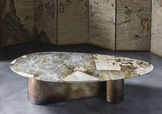 Gianluca Pacchioni is an international artist, metal sculptor and light designer. Gianluca Pacchioni workshop is located in Via Druso 2 20133 Milano italy 0270121262 3356000766 Steel Coffee Table, Coffe Table, Table Furniture, Home Furniture, Furniture Design, Courbet, Bronze Patina, Forging Metal, Dining Table Design