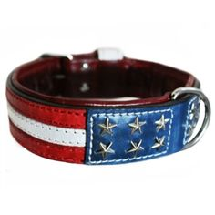 Thick leather dog collars perfect for Pit Bulls, Boxers, Bulldogs and other large dogs. 2 inches wide.
