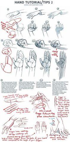 cómo dibujar una mano por Ruthie Roo