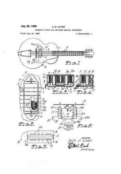 Image result for gretsch patent drawings