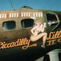 """Piccadilly Lilly II"" on a B-17"