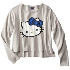 Hello Kitty® Juniors Drop Shoulder Sweater - Gray  Rating: 5 out of 5 stars 1 reviews  $27.99