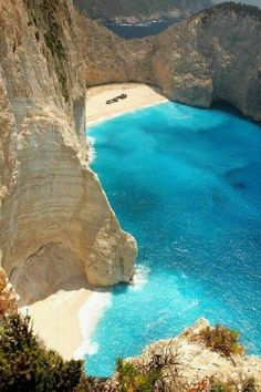 Navagio Beach, Greece. ...